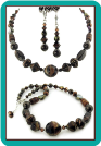 Chocolate Brown and Bronze Bead Necklace
