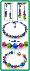 Peacock Crystals Necklace